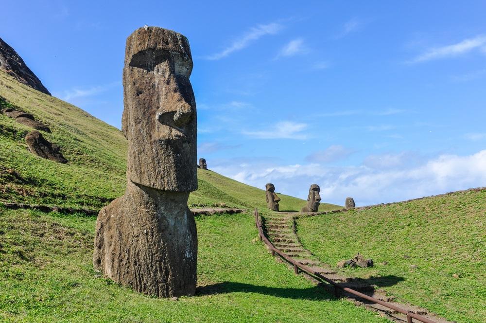 Húsvét szigetek szobrai
