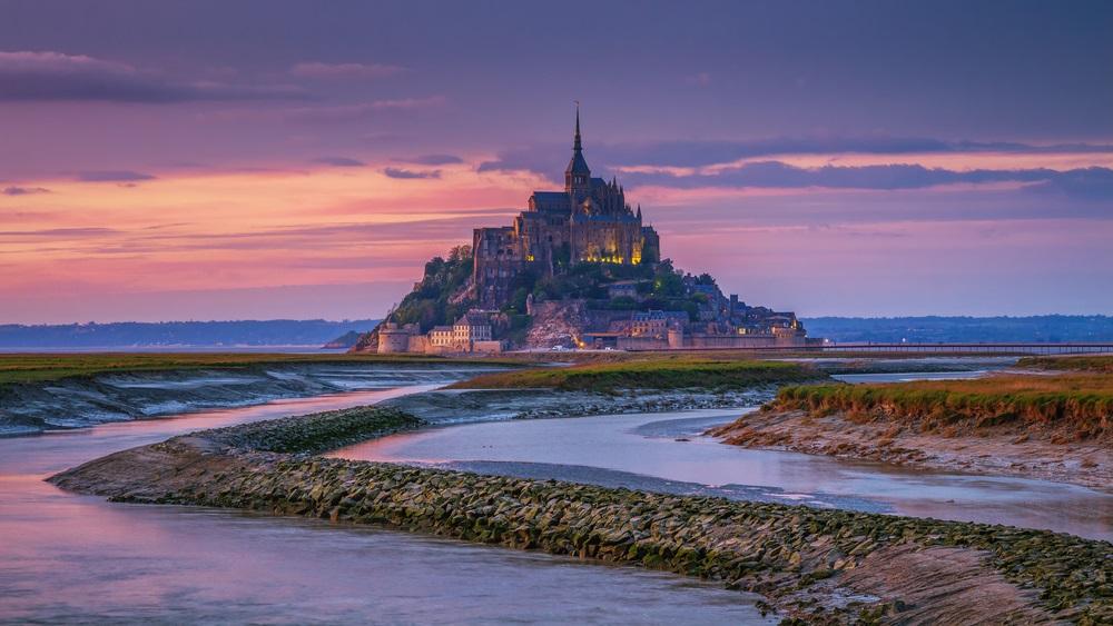 Mont Saint Michel Francia levendulamezők Valensole Provance Normandia