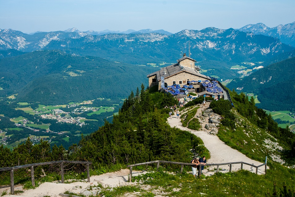 Kehlsteinhaus Sasfészek Berchtesgaden Königsee Bajorország Alpok
