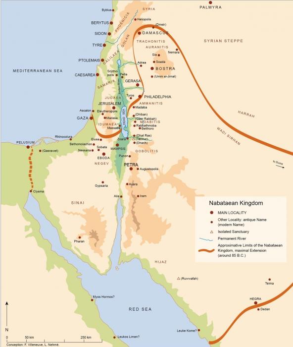 Nabateusok földje