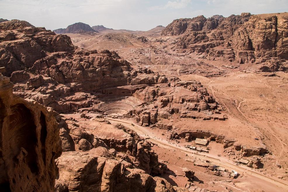 Petra városa madártávlatból