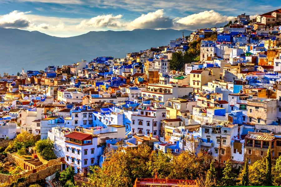 Chefchaouen a kék város Marokkó