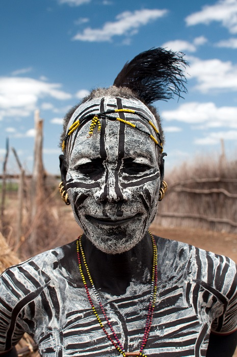 Karo törzs Omo völgy Etiópia