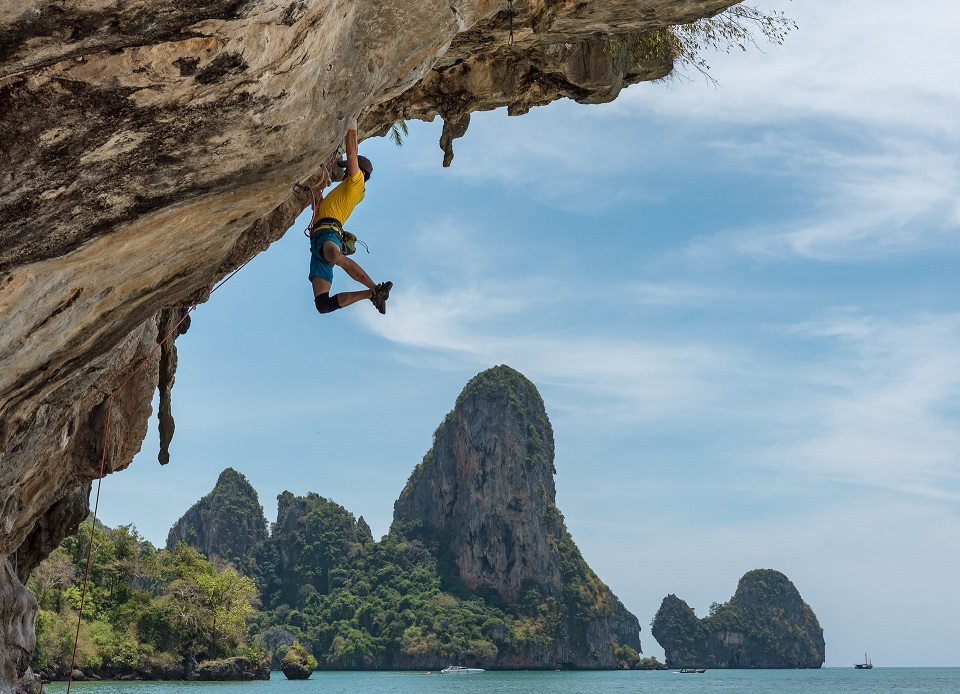 hardcore sziklamászás Thaiföldön