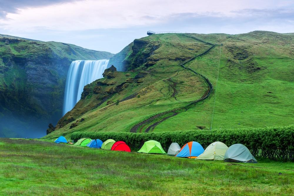 Sátrazás kempingezés Izlandon