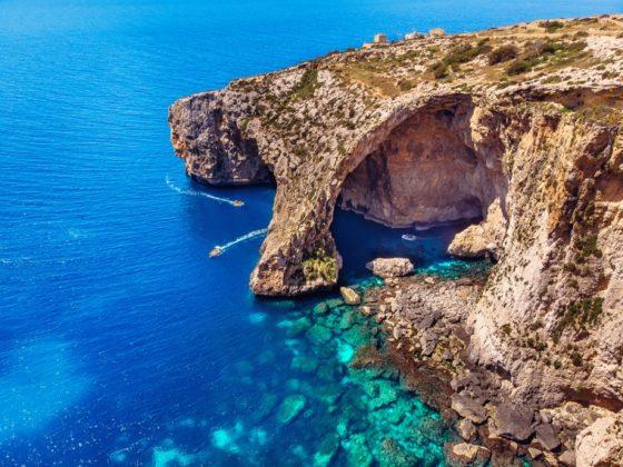 Blue Grotto kék barlang Máltán