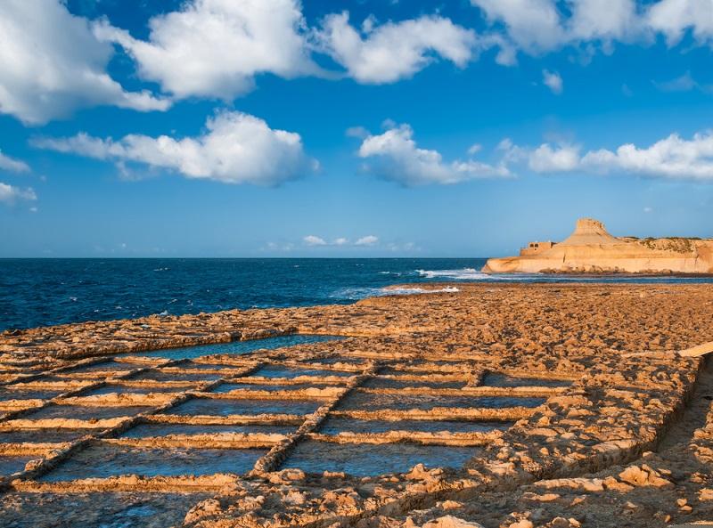 Zebbug Gozo sziget sólepárlók Máltán