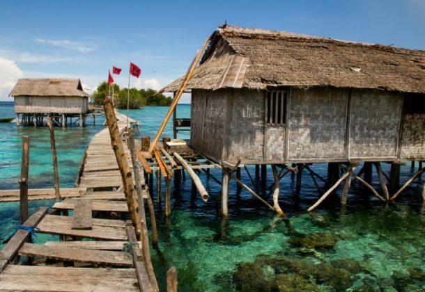 Bajo törzs Ázsia Indonézia tengeri cigányok