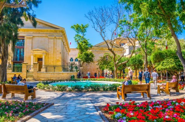 Barrakka kertek Málta Valletta látnivalói
