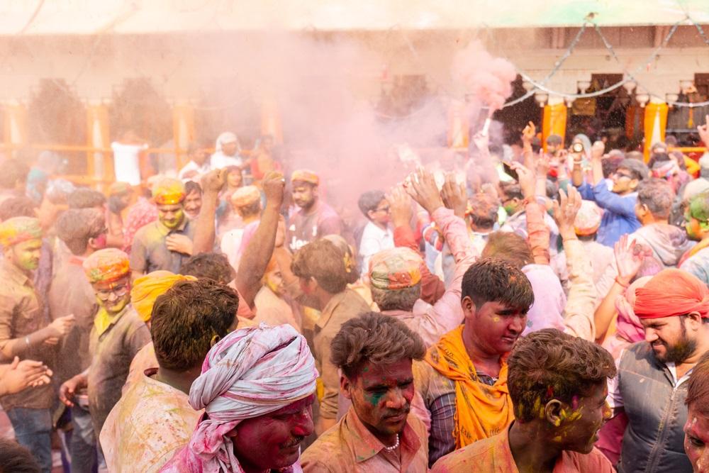 Holi fesztivál India