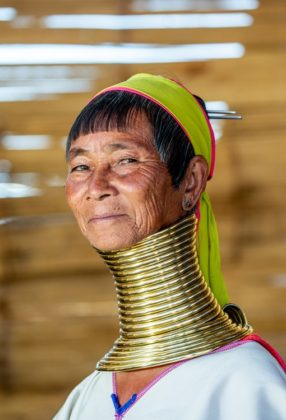 Karen Kayan népcsoport Burma Thaiföld hosszú nyakúak
