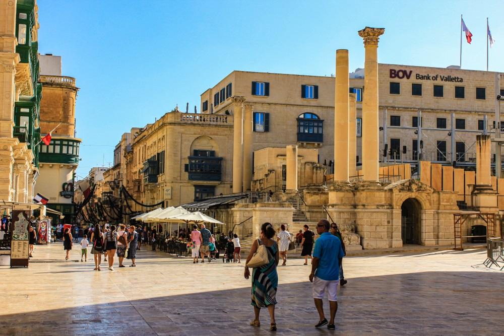 Republic Street Köztársaság utca Málta Valletta látnivalók
