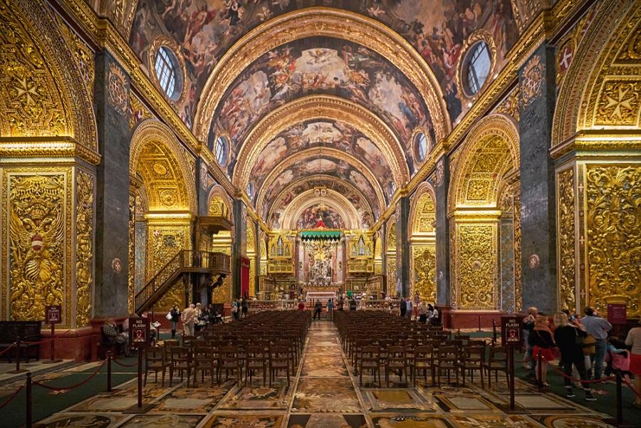 Szent János-társkatedrális Valletta Málta látnivalók
