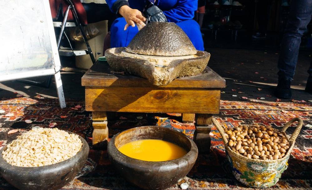 argán olaj marokkói medinában