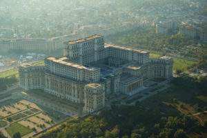 A hatalmas Parlament Palota Bukarestben