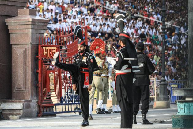 Wagah - Attari az indiai és pakisztáni határ
