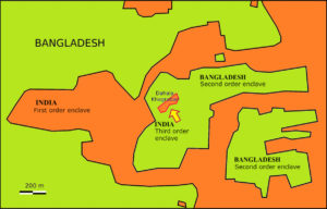 Dahala Khagrabari tripla exklávé India és Banglades határán