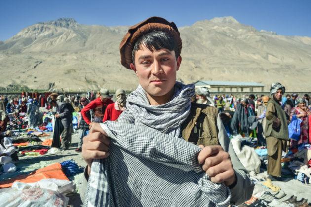 Ishkashim piac az afgán tádzsik határon
