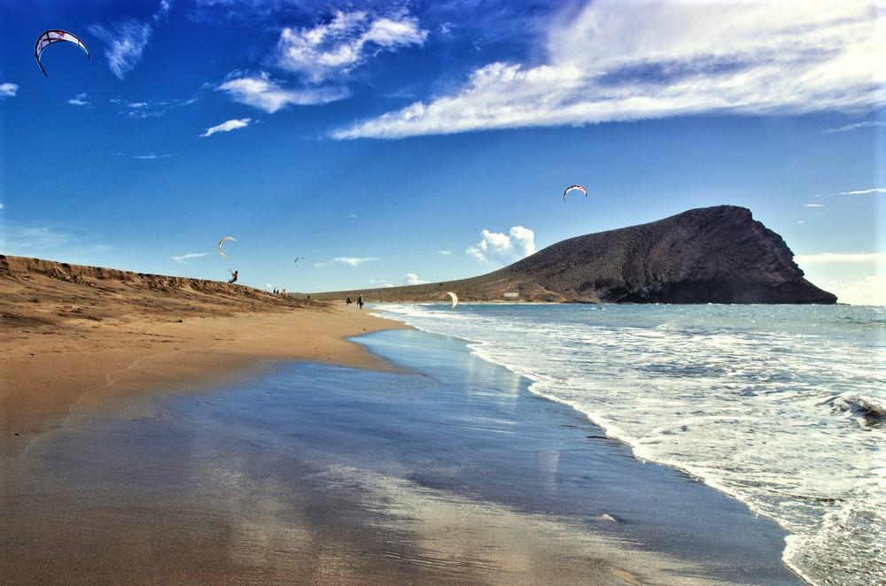 Playa de la Tejita Playa del Médano tenerife strand homok
