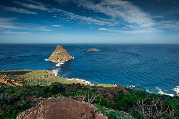 Playa las Brenas roques de anaga tenerife strand