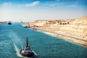 Szuezi-csatorna az átjáró tengerek között