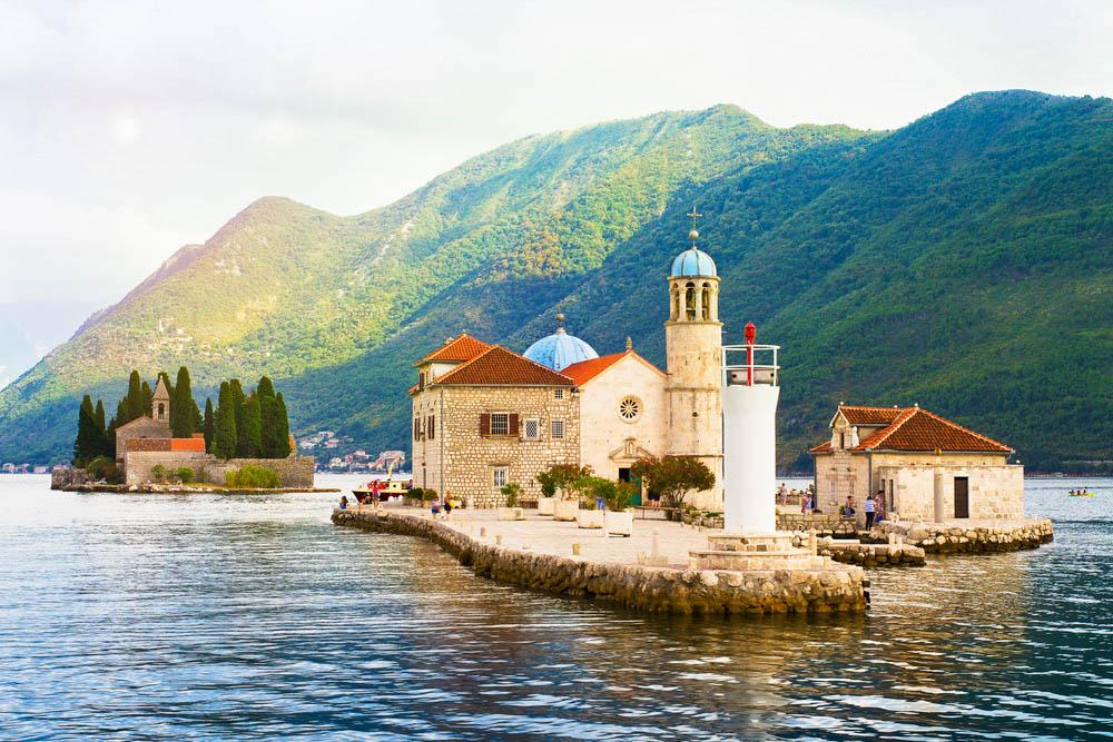kotori-öböl montenegro szirti madonna szigete szent györgy sziget perast