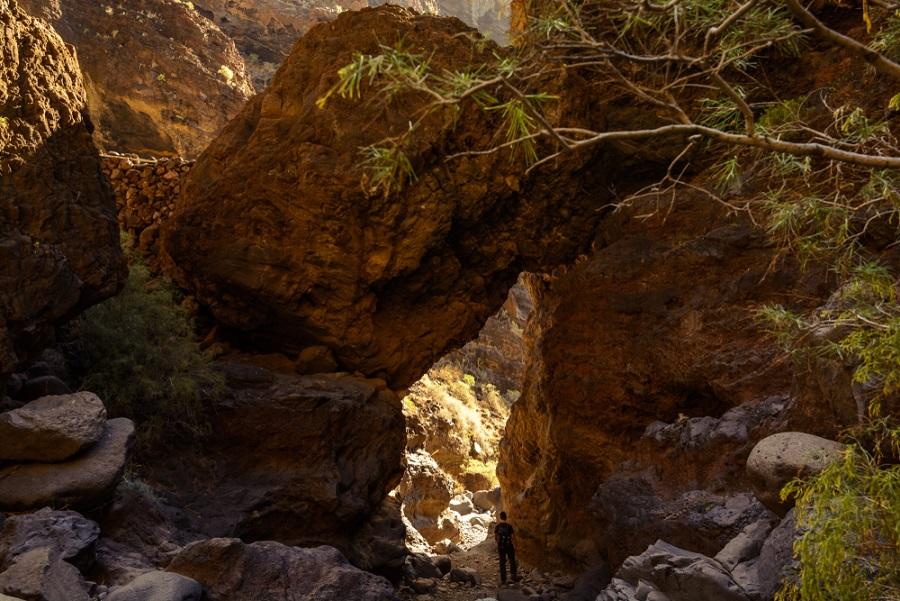 masca kanyon tenerife túraútvonalai túrázás