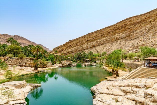 omán természet wadi bani khalid