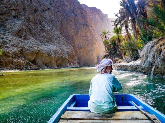 omán wadi shab természet
