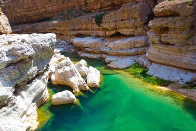omán wadi shab kanyon természet