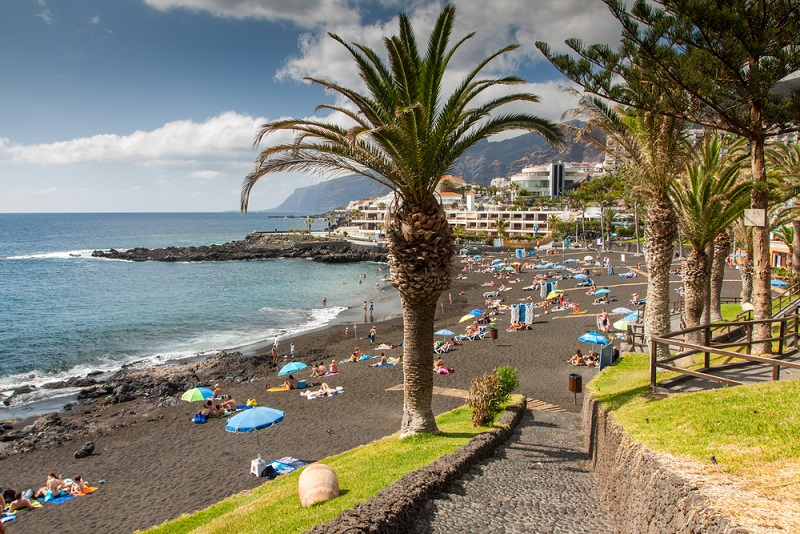 playa la arena tenerife strand